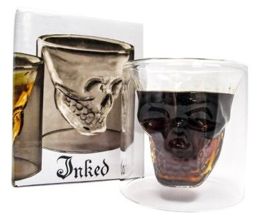 6 Doomed Skull Shot Glass