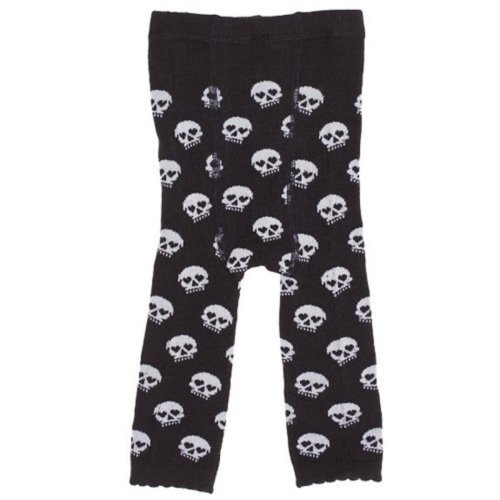 Skull Baby Leggings Black White by Sourpuss Clothing