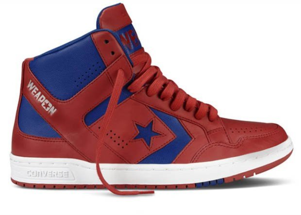 New Converse CONS Weapon sneaker in the red and blue color scheme.