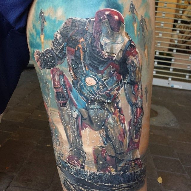 Wallpaper Superhero Marvel 3d Steve Butcher Tattoo Find The Best Tattoo Artists
