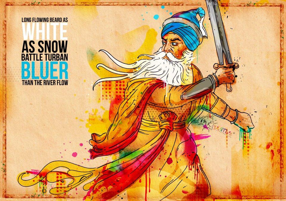 Baba Deep Singh Ji Wallpaper Hd Baba Deep Singh Ji The Saint Soldier Inkquisitive