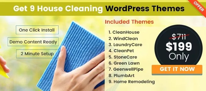 10+ Best House Cleaning, Housekeeping WordPress Themes InkThemes - domestic cleaning agency