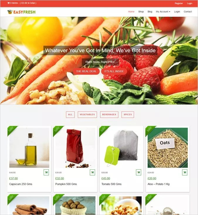 9+ Best Grocery Store WordPress Themes 2018 InkThemes - grocery templates