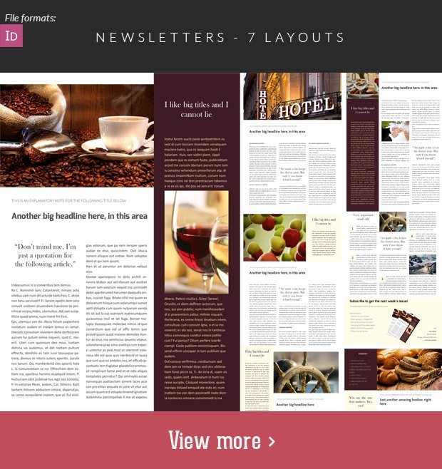 The Super Premium Print Templates Bundle + 600 Illustrations - news letter formats
