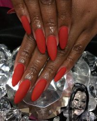 Red Long Acrylic Nails | www.pixshark.com - Images ...