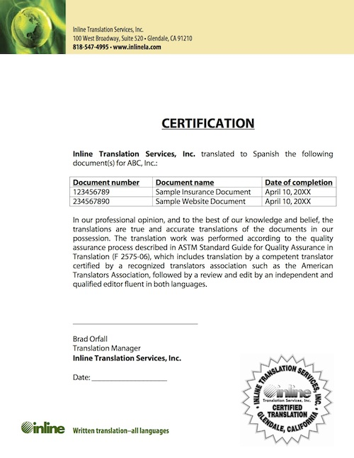 Inline Certified translations of your business content