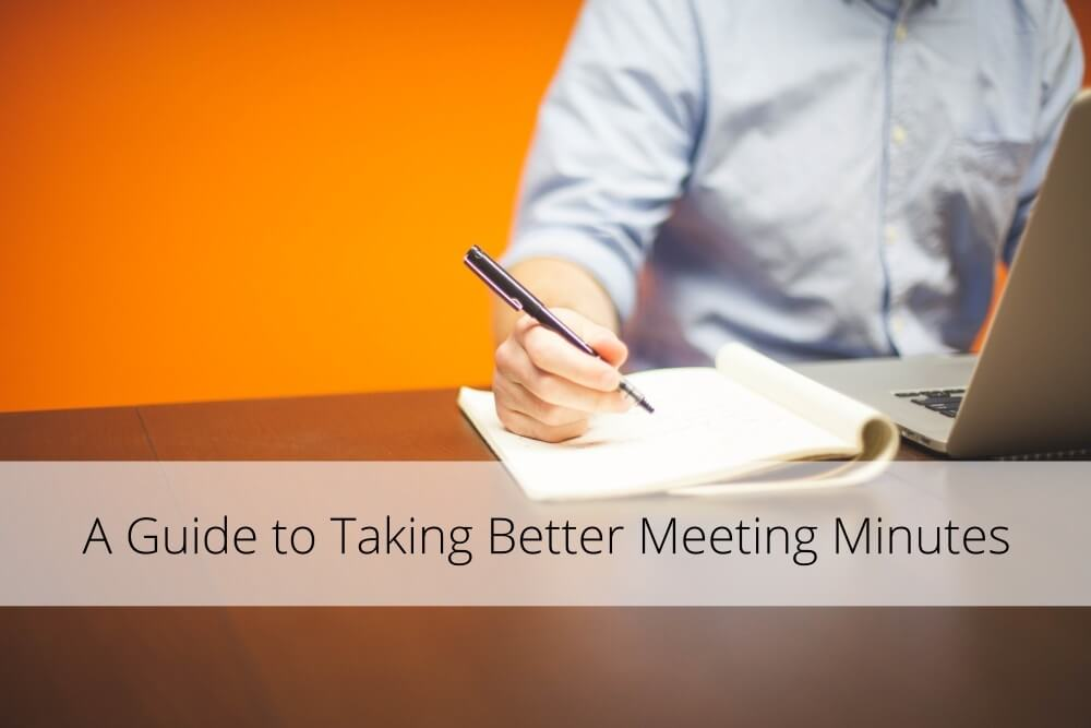 A Guide to Taking Better Meeting Minutes Infographic  Template