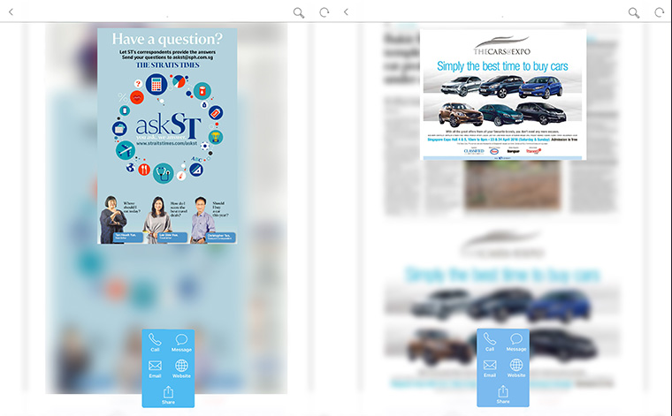 INMA Straits Times debuts interactive ads for digital edition