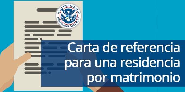 Carta de referencia para un matrimonio ante inmigración + EJEMPLO