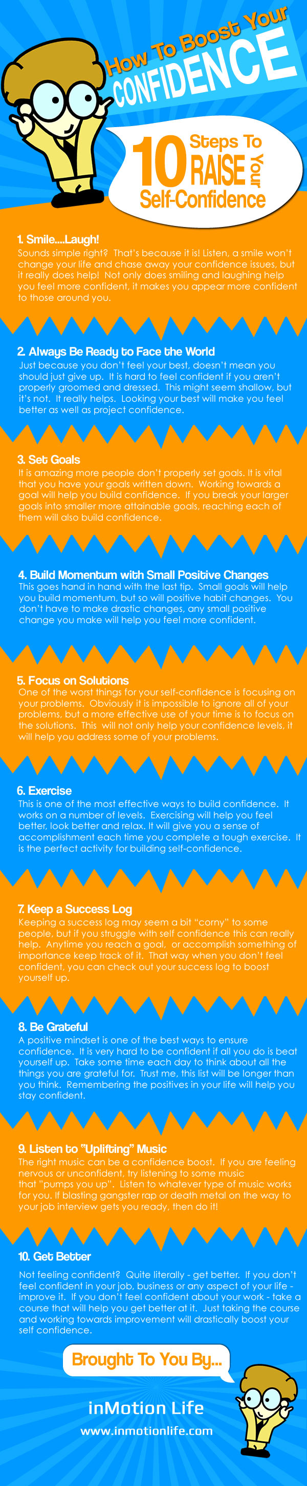 How to Boost Your Confidence Infographic