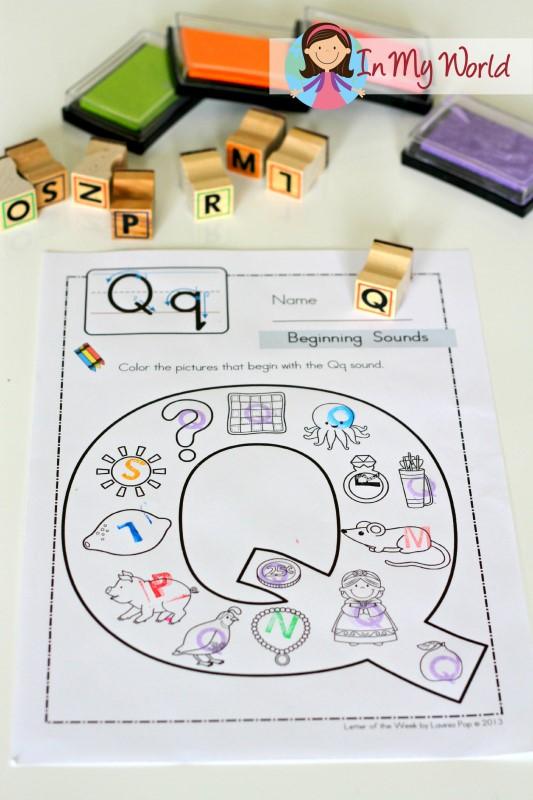 Preschool Letter Q - In My World