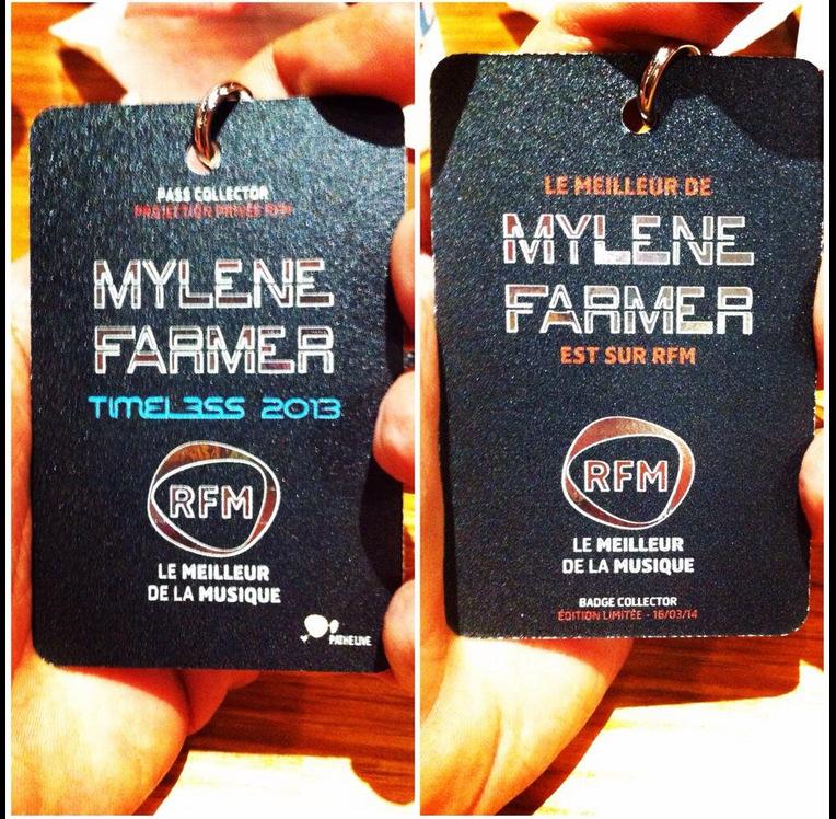 Timeless 2013 - Badge(s) - Référentiel Mylène Farmer