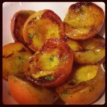 Helen's grilled peaches