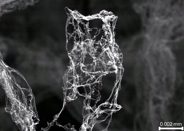 Ethereal aerographite is lightest stuff ever made