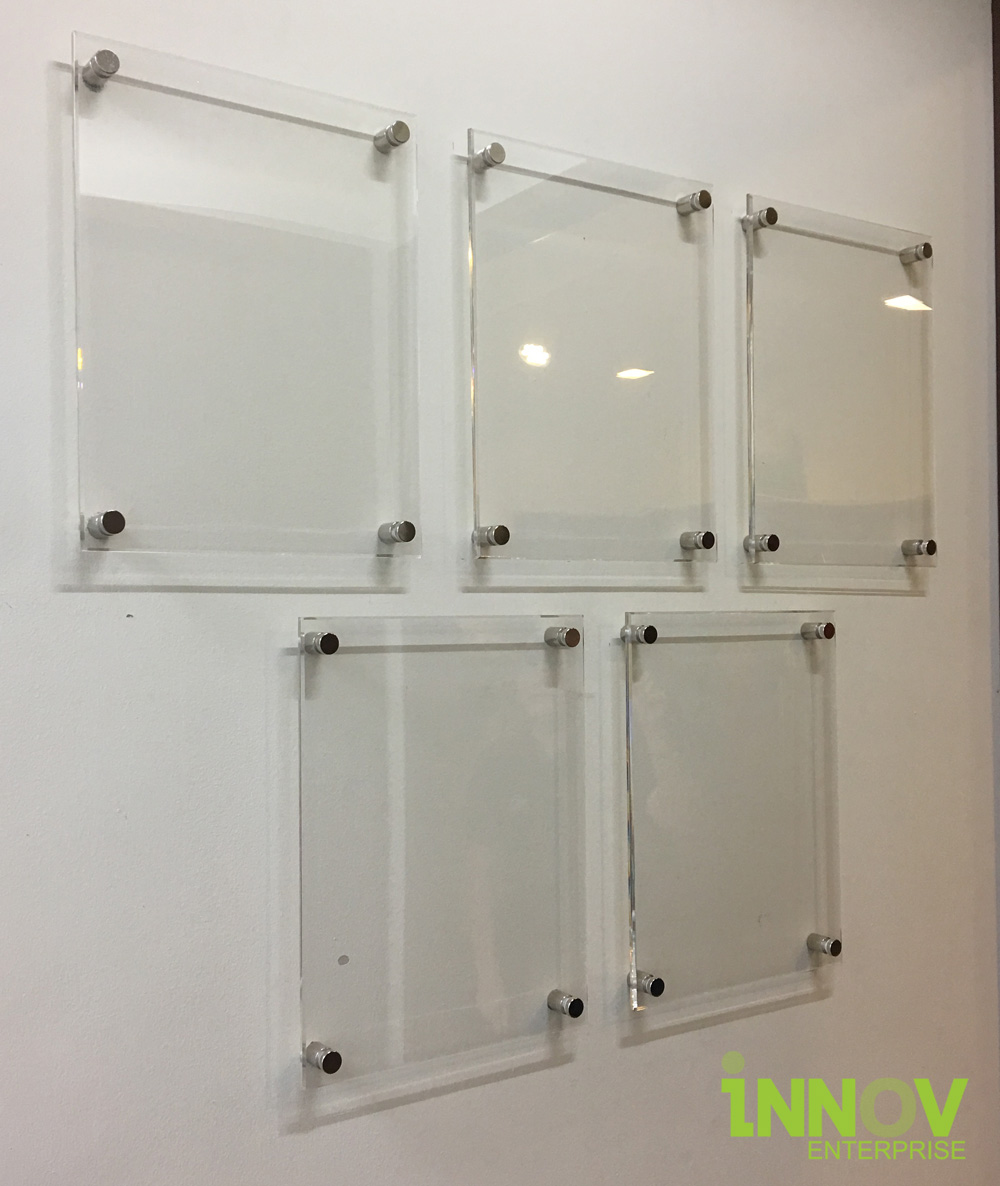 A4 Acrylic Sandwich Frame With Installation