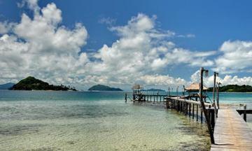 Cococape pier in Koh Mak