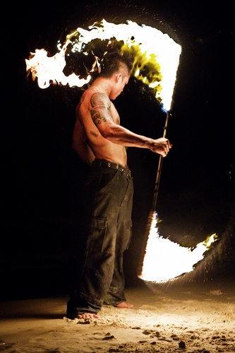 giocoliere fuoco Thailandia