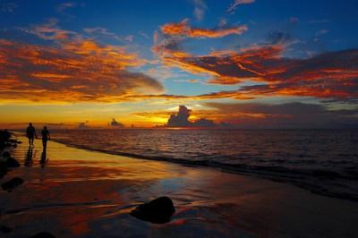 Tramonto a Kuta Beach a Bali