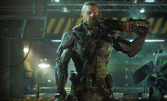Here is the tall, muscular, white male wearing high-tech armor who's the protagonist of Black Ops 3. He's very different from the tall muscular white guys that are the stars of Gears of War, Halo, Destiny and every other game for the PS4/XBOX One that is exactly alike.