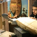 Monster City Studios for design and fabrication showcases one of its Artists in Action creating detail design for a sea turtle