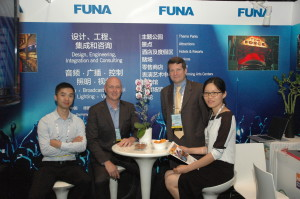FUNA staff in their booth