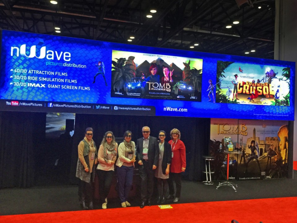 nWave team at IAAPA Attractions Expo