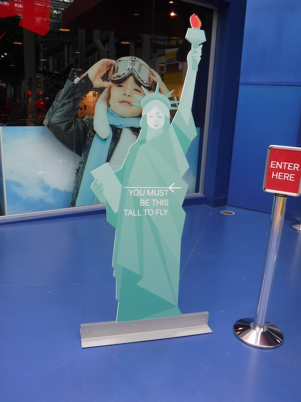 Lady Liberty serves as a height checker