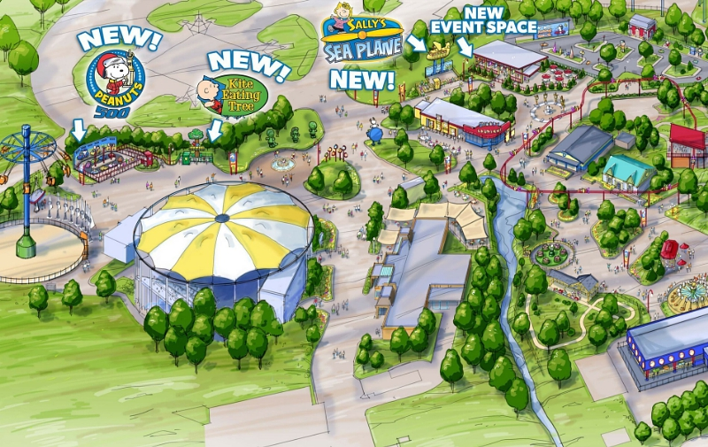 Cedar Fair Entertainment Company Area Rendering