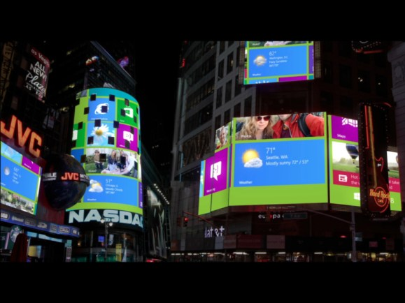 Windows 8 Launch with Videro WorldSynch, Times Square