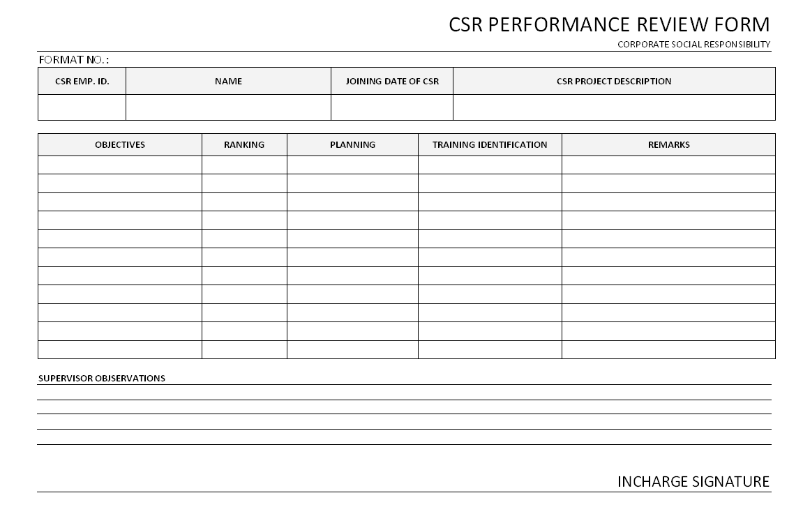 Employee Performance Review Form Template Free – Performance Review Templates Free