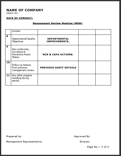 Management Review Template Employee Performance Review Template - management review template