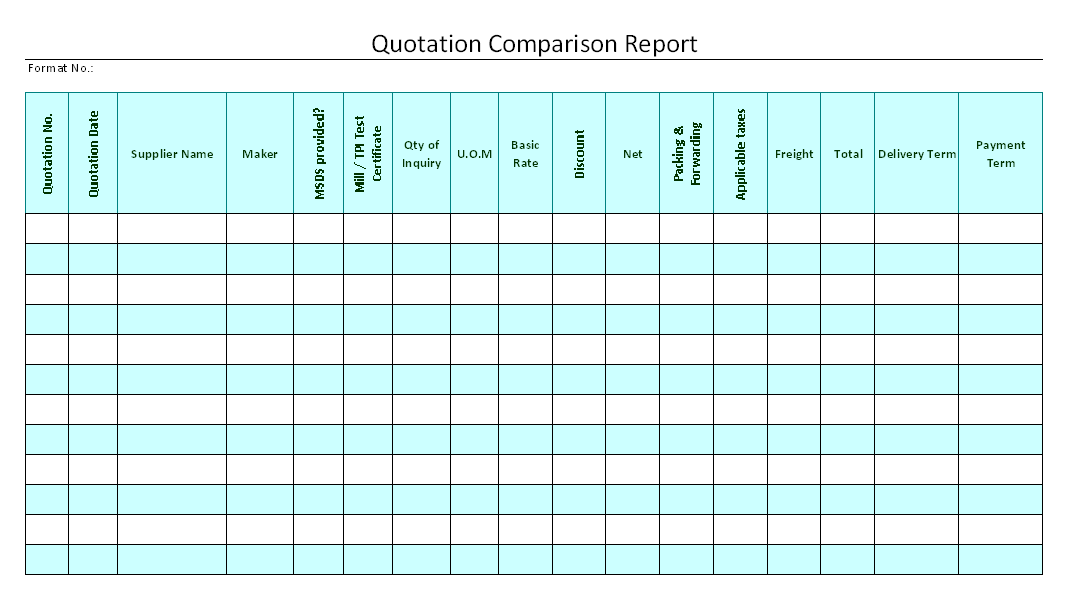 Doc676880 Format of Quotation in Word Free Word and Excel – Quotation Format Word