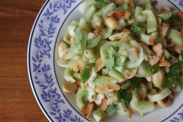Cucumber Peanut Salad - Inquiring Chef