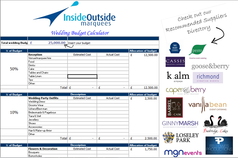 wedding-budget-calculator-image - Inside Outside Marquees Limited