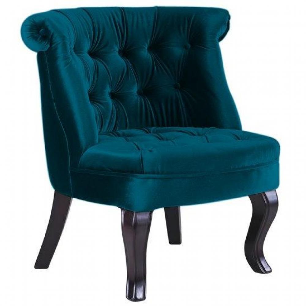 fauteuil velour bleu