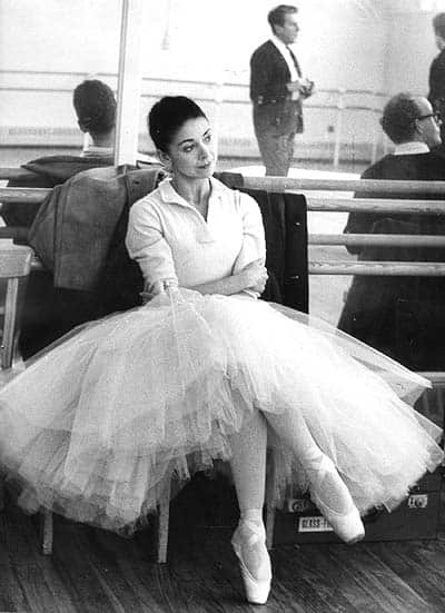 Margot Fonteyn at the Royal Ballet studios