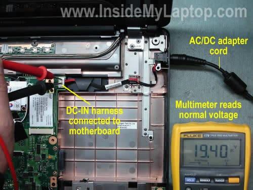 Laptop does not start Is it bad power jack or motherboard? \u2013 Inside