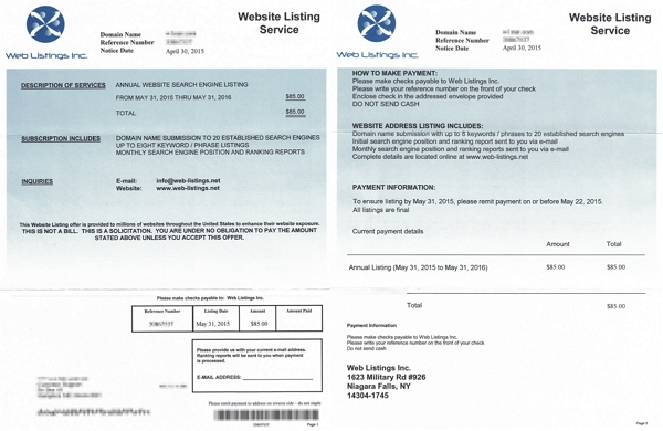 Don\u0027t Pay Phony Scam Invoices for Website Listing Services \u2022 Insider