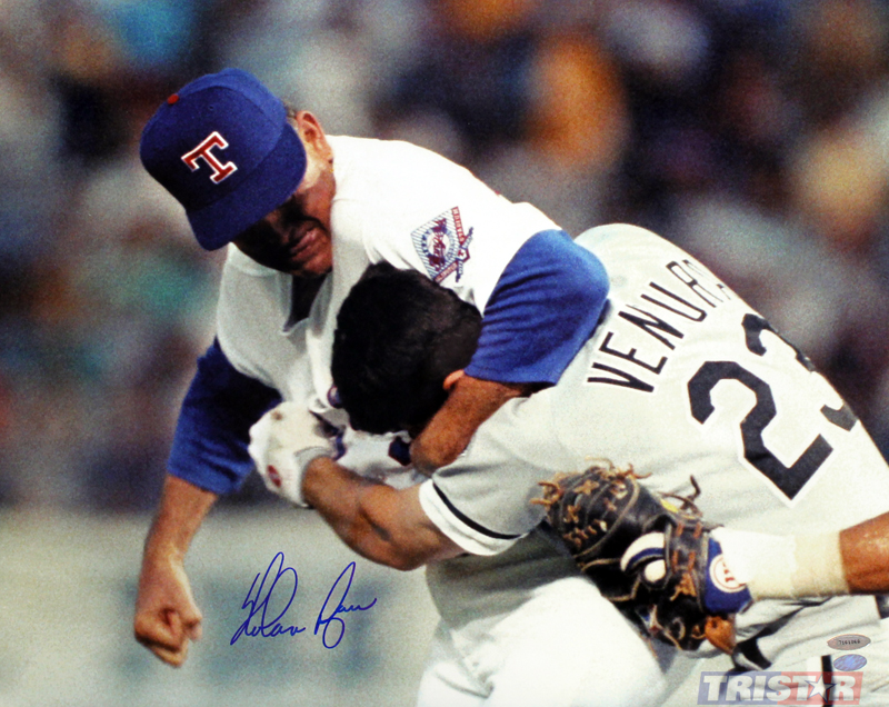 Fight Quotes Wallpaper Nolan Ryan Autographed Robin Ventura Fight 16x20 Photo