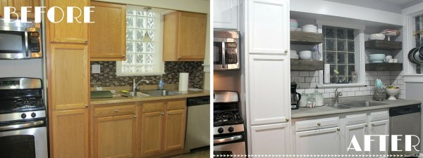 Kitchen Tour - Before and After | Inside the Fox Den