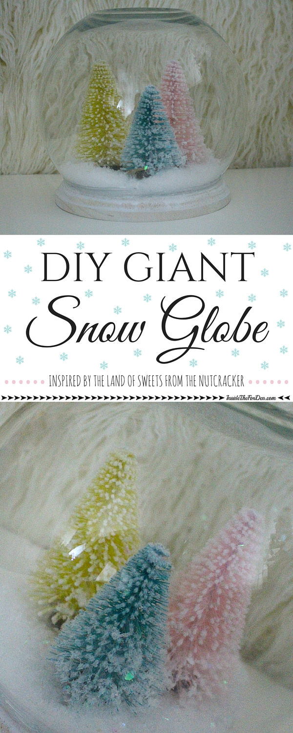 This DIY Giant Snow Globe is the perfect addition to your holiday decor! It's so easy to customize and would even make a great gift idea. Come see how easy it is to make!
