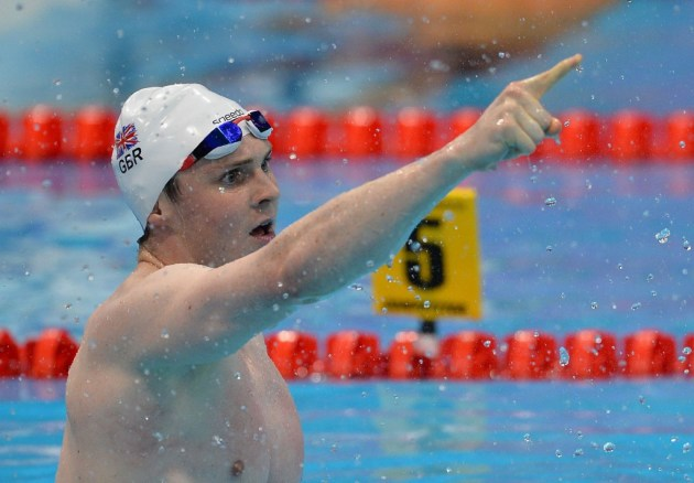 Ross Murdoch delivered more success for the host nation as he won the 200m breaststroke