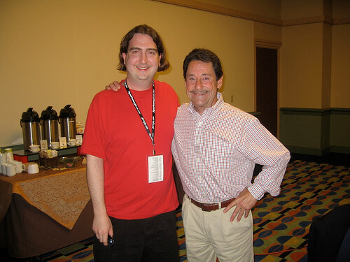 Ricky Brigante and Peter Cullen, voice of Optimus Prime