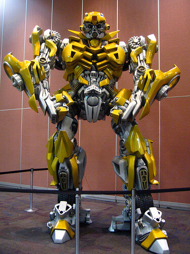 Giant Transformers Bumblebee statue