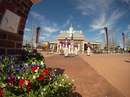 Fife and Drum Corps in The American Adventure