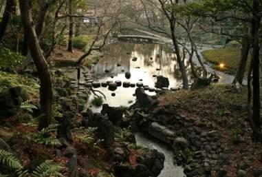Inside the Koshikawa Korakuen Gardens, Tokyo, Japan