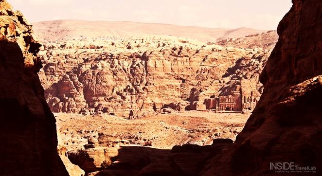 The magnificent stone of Petra Jordan