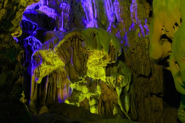 Reed Flute Cave purple and beige