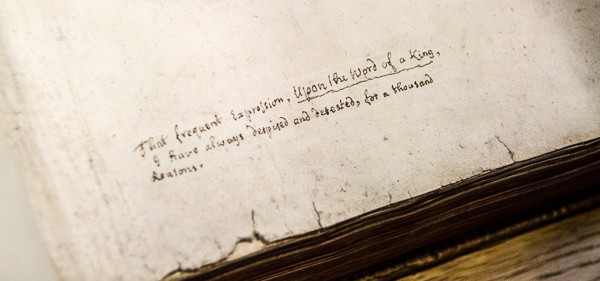 Jonathan Swift writes at Marsh's Library @insidetravellab