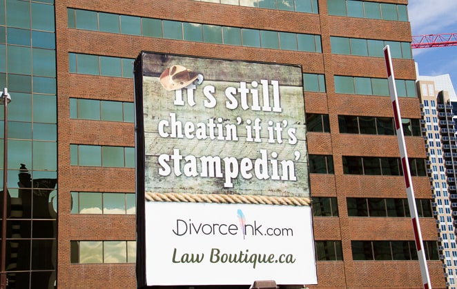Calgary Stampede Divorce Adverts